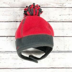 Old Navy Fleece Beanie - Red and Gray Ohio State Colors - Size S