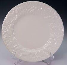 ESTE Pottery Large White Embossed Dinner Plate