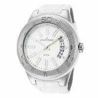 Jacques Lemans Men's Miami 50mm Silver Dial Leather Watch
