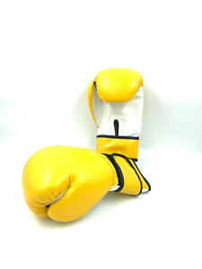 Boxing bag Gloves Yellow Grappling Competition Muay Thai Gloves plain blank 14oz