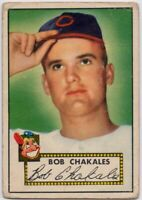 1952 Topps #120 Bob Chakales Low Grade RC Cleveland Indians FREE SHIPPING