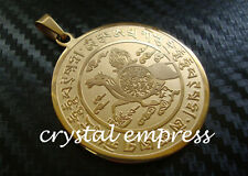 Feng Shui - Wind Horse Carrying Flaming Jewel With Yantra Grid Pendant (Small)
