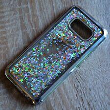 Samsung Galaxy s8 brillo-funda Plata Líquida Liquid Silicona Funda pedrería-Marco