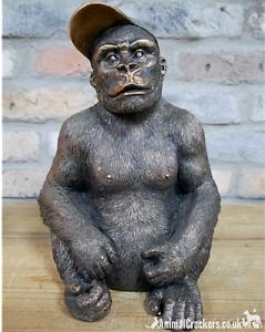 Gavin the GORILLA wearing cap novelty ornament decoration monkey ape lover gift