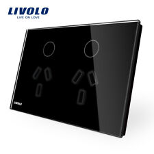 Livolo AU Standard Touch Light Switch Power Point Socket Glass Touch Wall Switch