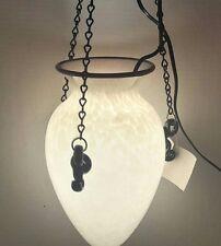Art Glass Vessel Hanging Light Fixture - Jacqueline Mendelson Signed  NWT
