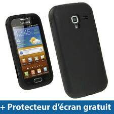 Noir Étui Housse Silicone pour Samsung Galaxy Ace 2 I8160 Android Smartphone