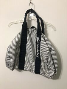 Abercrombie Fitch Duffel Bag Navy And White Stripes