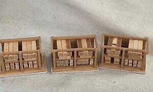HO Scale Wood Beam/Log Storage Vintage!!