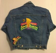 1994 Saban's Mighty Morphin Power Rangers Denim Jacket Embroidered (Rare)