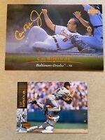 CAL RIPKEN JR Baseball card lot (2) Oversized 1995 Upper Deck & '95 UD. Orioles