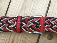 "Bellido Sport 910 Red Plaited Leather Rope Belt 42 "" 105 cm Excellent Condition"
