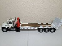 Mack Granite w/ Nelson Ramp Flatbed & Crane - White Sword 1:50 Scale Custom!