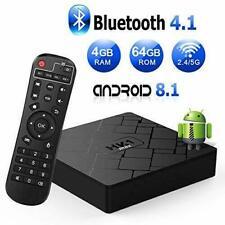 Android 8.1 TV Box, Livebox HK1 Max Smart TV Box 4GB RAM+64GB Rom, BT 4.1