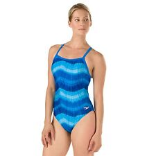Speedo Size: 12/28 YOUTH Bye Tie Dye Flyback ProLT Swim Female SPEEDO BLUE NWT