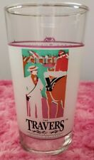 1992 TRAVERS STAKES HORSE RACING Souvenir Glass - SARATOGA SPRINGS, NY