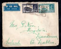 Ireland KGVI Airmail Censored cover from India WS15937