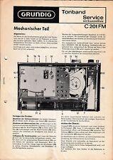 Service Manual-Instructions pour Grundig C 201 FM