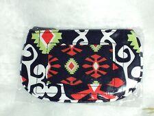 Vera Bradley Clip Zip ID in Sun Valley Cotton Multi-Color Free Shipping$15