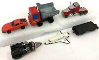 Vintage Lot of 6 Various Tonka Kidco Ertl Trucks Trailer Space Shuttle Diecast