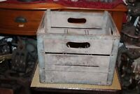 Antique Machiley's Dairy Pennsylvania Milk Bottle Carrier Crate Country Farm