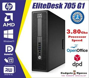 HP EliteDesk 705 G1 SFF AMD A4 Pro-7300B @3.80GHz Various RAM,HDD Win-10 WiFi