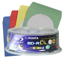 10x RIDATA 50 GB Blu ray Double Layer Rohlinge 6x Speed BD-R DL 50gb Blu-ray 3D