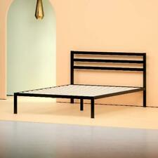 """Bed Frame with Headboard Metal 38"""" Black Platform Furniture Twin/Full/Queen/King"""
