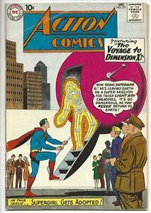 """ACTION COMICS #271 DC, Dec 1960 """"Voyage to Dimension X"""" Superman, Supergirl"""