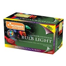 Kingfisher 80 Multi Coloured Large Candle String Lights