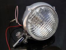 """Motorcycle 4"""" Chrome Head Light Lamp For Harley Bobber Chopper Sportster Custom"""