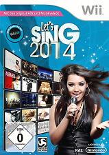 Let's Sing 2014 Nintendo Wii Wii U Spiel PAL deutsche Version  ( mit OVP )