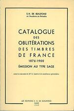 Catalogue des oblitérations des timbres de France 1876-1900 sur Type Sage
