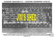 GLASGOW RANGERS F.C.TEAM PRINT 1956-57 (LEAGUE CHAMPS)