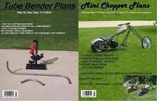 8 Mini Chopper Plans +Tube Bender Plans+Jig Plans Combo+ Retro Mini Bike Plans