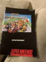 Super Mario Kart (Super Nintendo SNES) * Manual Only *