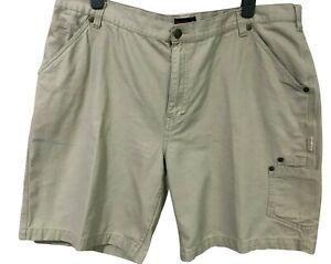 Wolverine Mens Khaki Beige Cargo Shorts Size 44 Cotton Pockets Casual Hiking