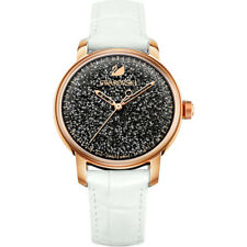 Swarovski Crystalline Hours White Leather Watch 5344635 Brand New in Box