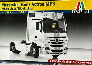 Italeri 3884 - Mercedes Benz Actros Mp3 Black/White Liner Model Kit Scala 1:24