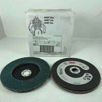 "3M Abrasive Flap Disc 566A Type 27 Giant 7"" X 7/8"" Hole 40 Grit QTY (5) Disc"