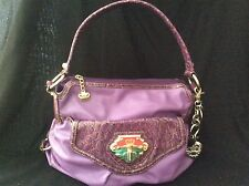 Kathy VanZeeland Hobo Purple Handbag w/original signature keychain