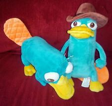 Disney Parks PERRY PLATYPUS Phineas & Ferb 8/9.5in Plushes Detective Perry