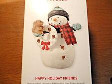 Hallmark Happy Holiday Friends Snowman FREE SHIP Hallmark Keepsake Ornament NEW