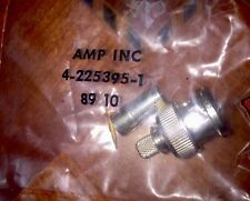 AMP 225395-1 Connector RG-58 Coaxial BNC RF 50 Ohm Lot of 10 New Old Stock