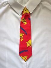 Boys Red Pokemon Tie - Pre-tied elasticated