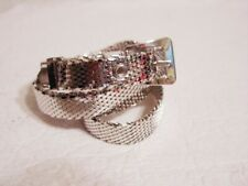 Whiting & Davis Silver Metal Mesh Belt S  27.5