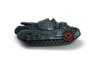 Tank Flower Lapel Pin Badge