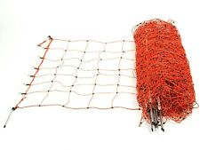 50m x 90cm Electric Fencing Sheep Netting - Orange - Single Point Posts