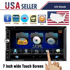 "7"" touch screen Car Stereo Double 2Din Radio DVD Player iPod Bluetooth TV MP3"