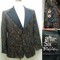 Vtg After Six by Rudofker / Roos Atkins Mens Brocade Jacket Med